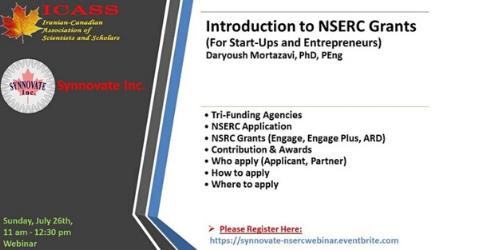 Introduction to NSERC GrantsICASS & Synnovate1